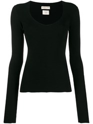 Bottega Veneta Ribbed Knitted Jumper Black