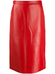 Gucci Straight Leather Skirt 60