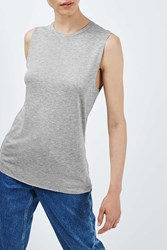 Boyfriend Tank By Boutique Grey Marl