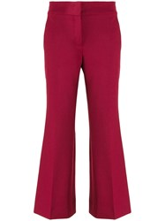 Piazza Sempione Straight Mid Rise Trousers Red