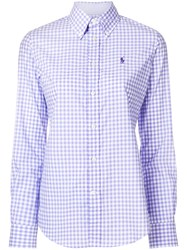 Ralph Lauren Checked Shirt Pink And Purple