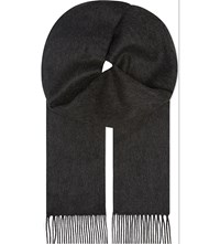 Johnstons Plain Cashmere Scarf Charcoal