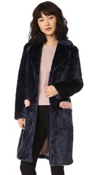 Shrimps Claude Coat Navy Rose