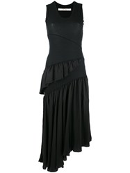 Damir Doma Sleeveless Ruffle Trim Dress Black