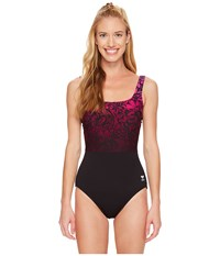 Tyr Juniper Aqua Controlfit Black Purple Women's Swimsuits One Piece Multi