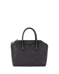 Givenchy Antigona Small 4G Quilted Leather Satchel Bag Black