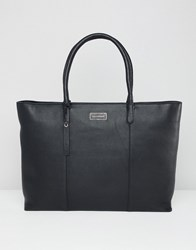 Paul Costelloe Real Leather Clean Shopper Black