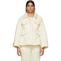 Undercover Off White Cinched Waist Jacket