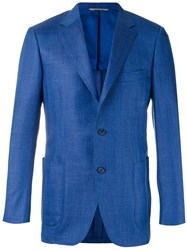Canali Two Button Blazer Blue