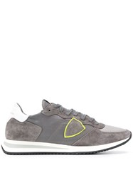 Philippe Model Suede Panel Sneakers Grey