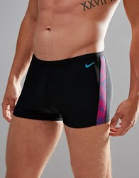 92582a2224bc8 Nike Swimming Trunks In Black With Far Out Print Ness7115 673 Black Purple