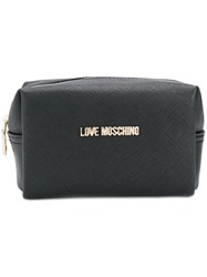 Love Moschino Saffiano Wash Bag Black