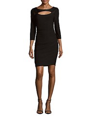 Laundry By Shelli Segal Boatneck Cutout Fitted Dress Black