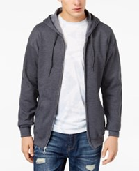 American Rag Men's Zip Up Hoodie Created For Macy's Charcoal Grey