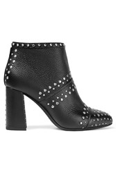 Lanvin Ruby Studded Textured Leather Ankle Boots