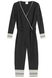 1d84aa48a703 Madeleine Thompson Wrap Effect Cropped Wool And Cashmere Blend Jumpsuit  Charcoal