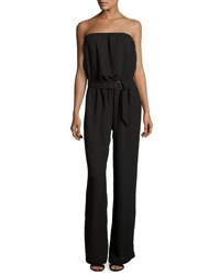 Joie Derber Strapless Belted Jumpsuit Black