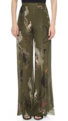 Haute Hippie Wide Leg Pants Birds Of Paradise