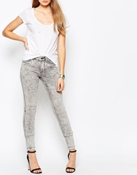 Noisy May Lucy Super Slim Acid Wash Jeans Grey