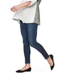 A Pea In The Pod Luxe Essentials Maternity Ankle Skinny Jeans Dark Wash