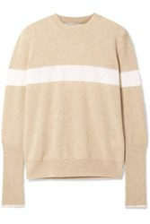 La Ligne Striped Cashmere Sweater Beige