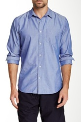 Relwen Solid Nautical Shirt Blue