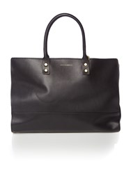 Lulu Guinness Daphne Smooth Leather Medium Tote Bag Black