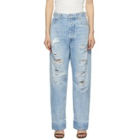 Unravel Blue Distressed Baggy Boy Jeans
