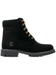Off White Timberland Boots Black