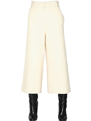 Proenza Schouler Nappa Leather Palazzo Trousers Off White