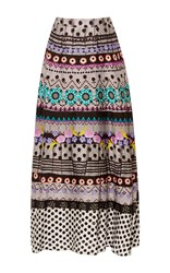 Temperley London Marley Print Skirt Black