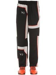Y 3 Techno Jacquard Track Pants Black