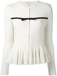 Giambattista Valli Zipped Peplum Jumper White