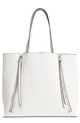 Chelsea 28 Chelsea28 Leigh Faux Leather Tote And Zip Pouch White