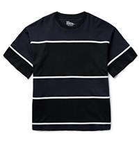 White Mountaineering Tape Striped Cotton Jersey T Shirt Black