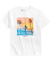 Neff Men's Cali Pier Cotton Graphic Print T Shirt White