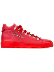 Philipp Plein Kelaa Hi Top Sneakers Red