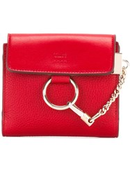 Chloe Faye Square Wallet Red