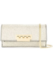 Zac Posen Earthette Glitter Clutch Bag Metallic
