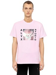 Alyx Studio Cotton Blend Jersey T Shirt Pink