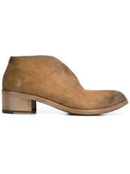 Marsell 'Listo' Laceless Desert Boots Brown