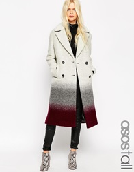 Asos Tall Coat In Oversized Fit In Ombre