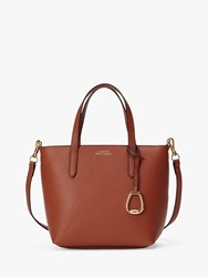 Ralph Lauren Merrimack Small Tote Bag Tan Orange