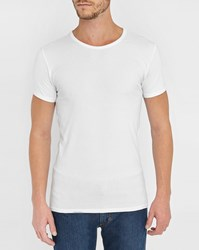 Tommy Hilfiger 3 Pack Of T Shirts In White Cotton Elastane