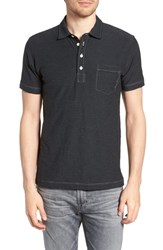 Billy Reid Pensacola Cotton Blend Polo Shirt Dark Navy