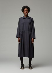 Comme Des Garcons Long Sleeve Wool Dress Navy