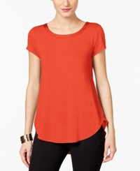 Alfani Petite Satin Trim High Low T Shirt Only At Macy's Tropical Reef