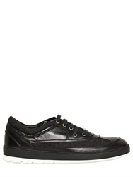 Christian Dior Dior Homme Flannel And Leather Sneakers