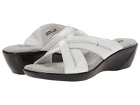 Walking Cradles Chase White Burnished Leather Women's Slide Shoes