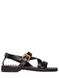 Giuseppe Zanotti Studded Welt Brushed Leather Sandals